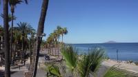 The volcano island of Coronado in the distance