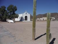 Salina's Bays ghost town had one caretaker and many old buildings falling apart. But not the recently painted church