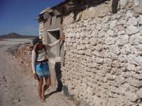 The old buildings were constructed of large pieces of coral.