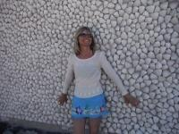 One of the buildings in the village was completely covered in shells.