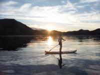 In these perfect conditions it isn't unusual for us to paddle several km exploring the coast.