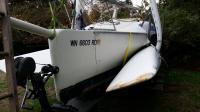 The trailer is nice and heavy duty too. Great trailer brakes are essential for a boat with such windage.